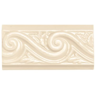 Daltile Rittenhouse Square Translucent Almond Wave White/Cream RT0136DECO1P