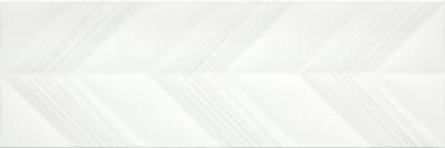 Emser Vertigo Ceramic Glossy White Chevron F02VERTCHW1030