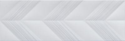 Emser Vertigo Ceramic Matte/Satin Gray Chevron F02VERTCHG1030
