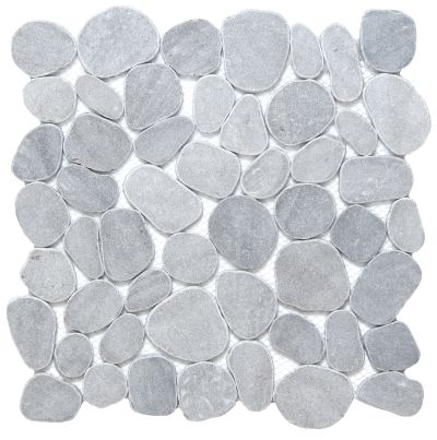 Emser Cultura Pebbles Honed & Tumbled Silver M05CULTSI1212MOH