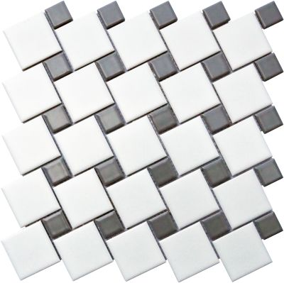 Emser Spin Porcelain Matte White/Gray W95SPINWHGR1111MO