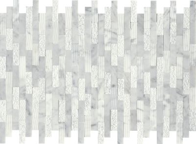 Emser Link Marble Splitface White F67LINKWH1218MOL
