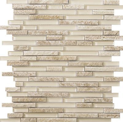 Emser Lucente Linear Stone & Glass Blend Glass Glossy/Matte Servolo W80LUCESE1313MOB