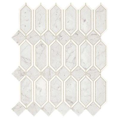 Marazzi Castellina™ Linear Hex White and Gray CT56-1513