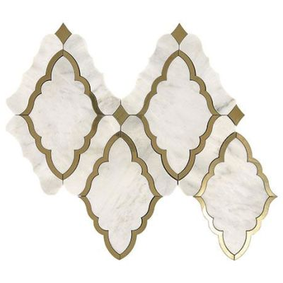 Marazzi Baroque White and Brass CT59-1614