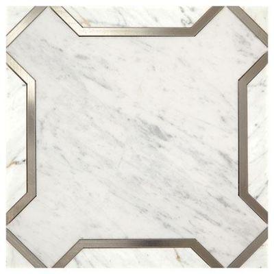 Marazzi Nouveau White and Titanium CT60-1111