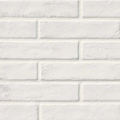 MSI Tile Brickstone Brick,Subway Brickstone White 2×10 NCAPWHIBRI2X10