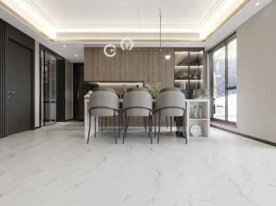 Biyork Floors Hydrogen 6 Tile BIYORK Simply WaterProof Floors combed cotton BYKHY6HT50CO