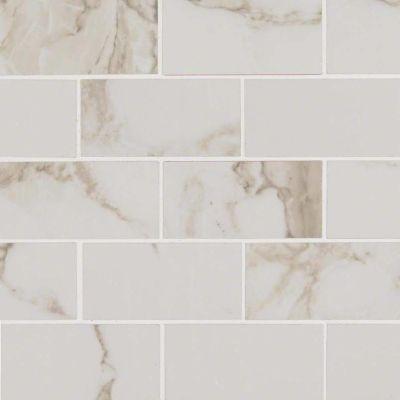 MSI Tile Pietra Stone Calacatta NPIECAL2X4P-N
