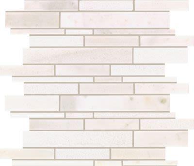 Mohawk Chateau Elegant Stone Santorini White T843-CE39-11.8125×14-MosaicField-Stone