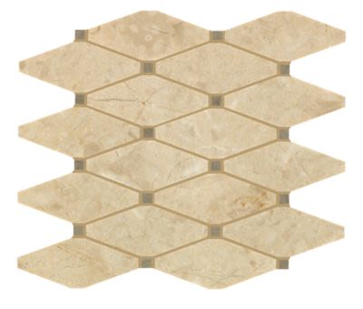 Mohawk Chateau Elegant Stone Milano Gris T843-CE43-10.92×12.31-MosaicFieldAccentTile-Stone