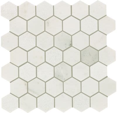 Mohawk Chateau Elegant Stone Santorini White T843-CE39-12.37×12.62-MosaicFieldAccentTile-Stone