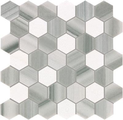 Mohawk Chateau Elegant Stone Naples White T843-CE41-12.37×12.62-MosaicFieldAccentTile-Stone