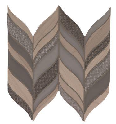 Mohawk Saint Dennis Stone, Glass Taupe T841-SD39-13.62×6-MosaicFieldAccentTile-Stone,Glass