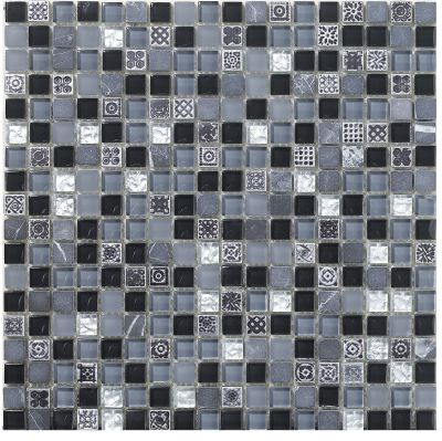 Mohawk Maraval Stone Black Cloud T787F-ST17-12×12-AccentTile-Stone