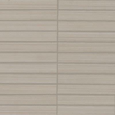 Mohawk Via Salina Porcelain Taupe Canvas T853F-VZ03-6×1-MosaicField-Porcelain