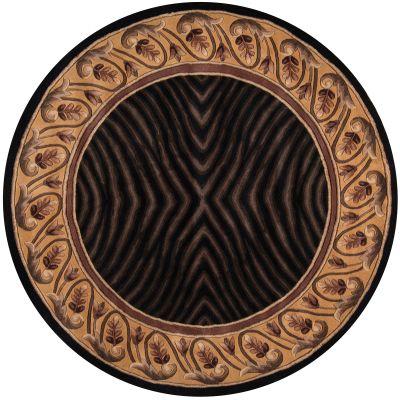 Momeni New Wave Nw-09 Black 5'9″ x 5'9″ Round NEWWANW-09BLK590R