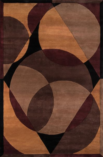 Momeni New Wave Nw-78 Brown 5'3″ x 8'0″ NEWWANW-78BRN5380