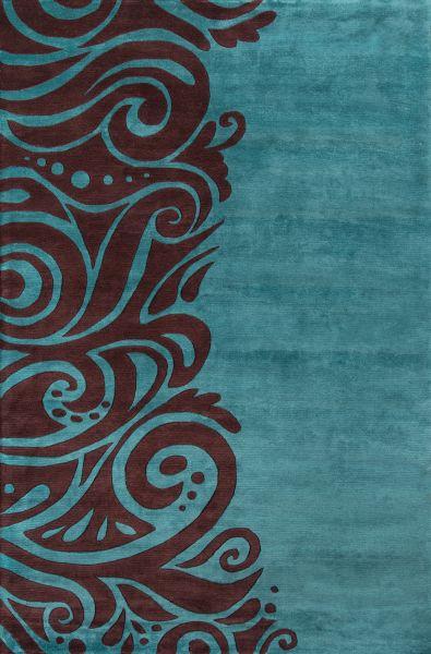 Momeni New Wave Nw-88 Turquoise 7'6″ x 9'6″ NEWWANW-88TQS7696
