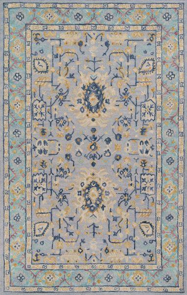Momeni Tangier Tan30 Blue 5'0″ x 8'0″ TANGITAN30BLU5080