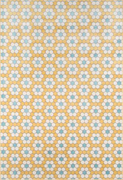 Novogratz Terrace Trc-1 Modern Hex Tile Yellow 2'0″ x 3'0″ TERACTRC-1YEL2030