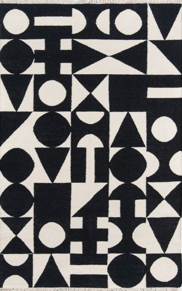 Novogratz Topanga Top-3 Roberta Black 3'6″ x 5'6″ TOPANTOP-3BLK3656