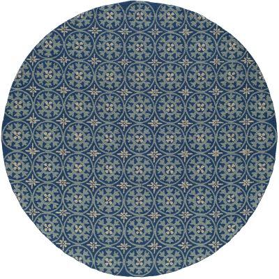 Momeni Veranda Vr-26 Blue 9'0″ x 9'0″ Round VERANVR-26BLU900R