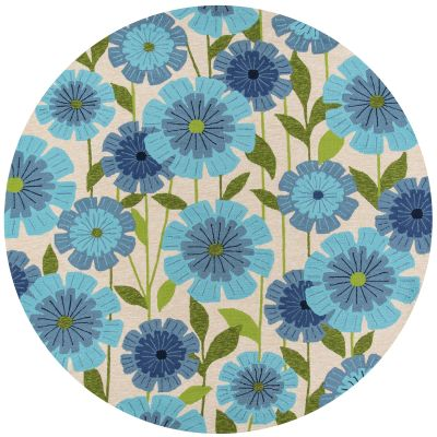 Momeni Veranda Vr-69 Blue 9'0″ x 9'0″ Round VERANVR-69BLU900R