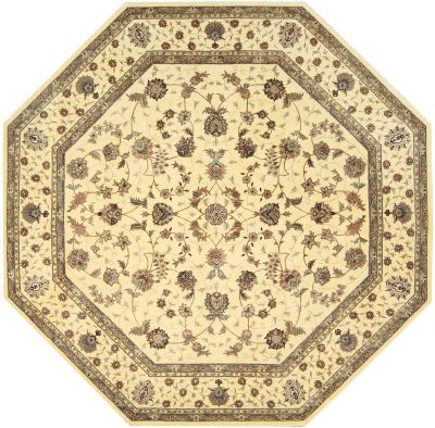 Nourison 2000 Traditional, Ivory 10'0″ x 10'0″ Octagon 2023VRY10X10