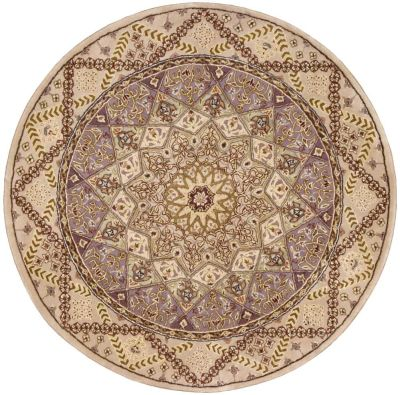 Nourison 2000 Traditional, Lavender 4'0″ x 4'0″ Round 2117LVNDRROUND