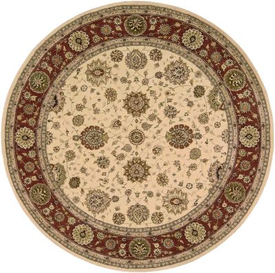 Nourison 2000 Traditional, Ivory 8'0″ x 8'0″ Round 2204VRYROUND