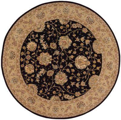Nourison 2000 Traditional, Black 8'0″ x 8'0″ Round 2214BLCKROUND