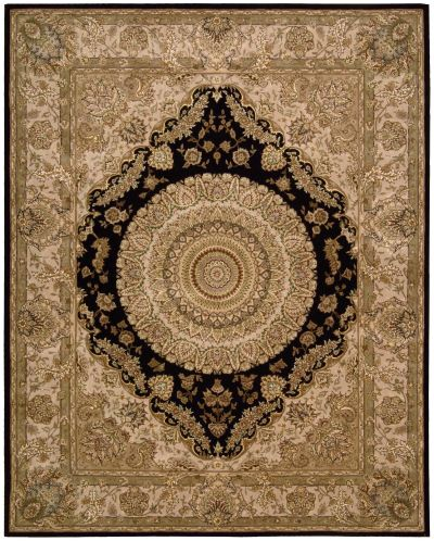 Nourison 2000 Traditional, Black 3'9″ x 5'9″ 2233BLCK4X6