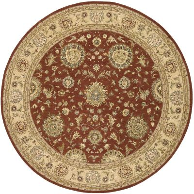 Nourison 2000 Traditional, Rust 8'0″ x 8'0″ Round 2258RSTROUND
