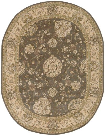 Nourison 2000 Traditional, Grey 7'6″ x 9'6″ Oval 2259GRY6X9