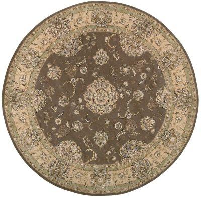 Nourison 2000 Traditional, Grey 8'0″ x 8'0″ Round 2259GRYROUND