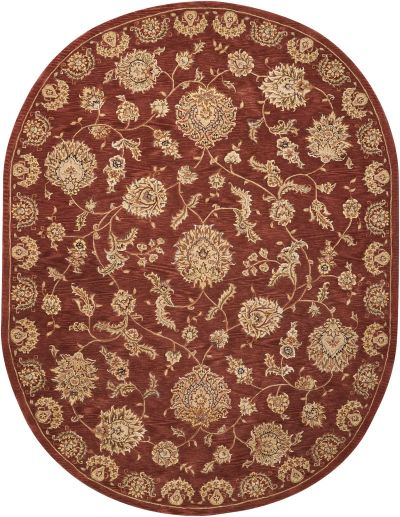 Nourison 2000 Traditional, Rust 7'6″ x 9'6″ Oval 2421RST6X9