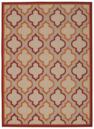 Nourison Aloha Transitional Red 3'6″ x 5'6″ ALH06RD4X6