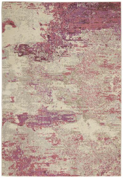 "Nourison Celestial Ivory/Pink 3'11"" x 5'11"" CES02VRYPNK4X6"