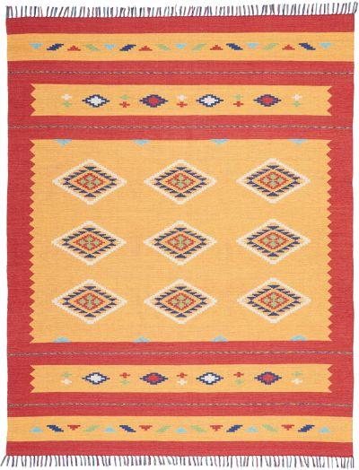 Nourison Baja Modern/Contemporary, Orange/Red 6'6″ x 9'6″ BAJ02RNGRD6X9