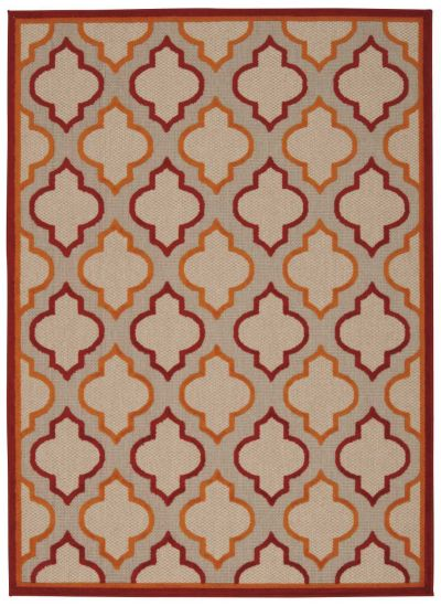 Nourison Aloha Transitional Red 5'3″ x 7'5″ ALH06RD5X8