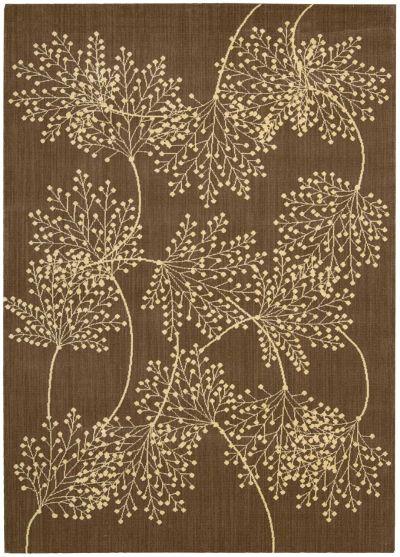 Nourison Capri Floral/Botanical Chocolate 9'6″ x 13'0″ CAP1CHCLT9X12