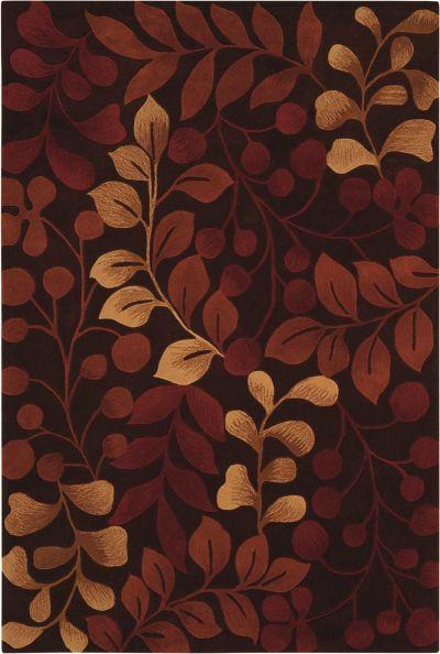 Nourison Contour Floral/Botanical, Chocolate 7'3″ x 9'3″ CON02CHCLT6X9