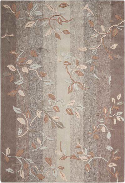 Nourison Contour Floral/Botanical, Stone 8'0″ x 10'6″ CON03STN8X10