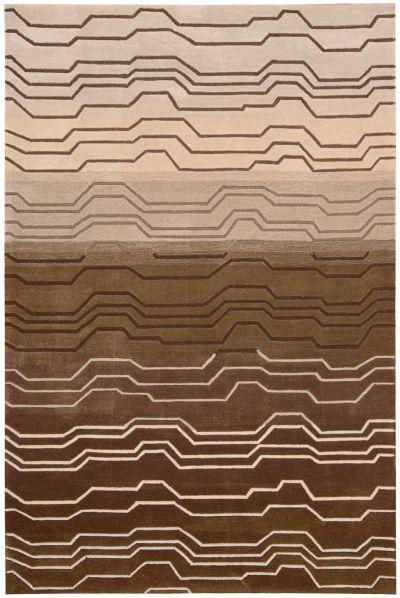 Nourison Contour Modern/Contemporary, Striped, Natural 3'6″ x 5'6″ CON04NTRL4X6