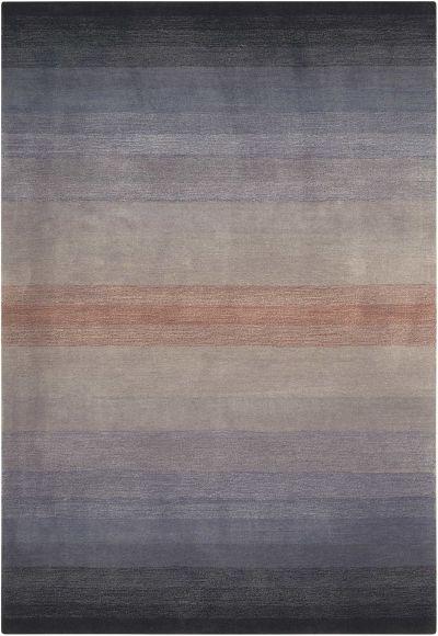 Nourison Contour Striped, Grey 5'0″ x 7'6″ CON08GRY5X8