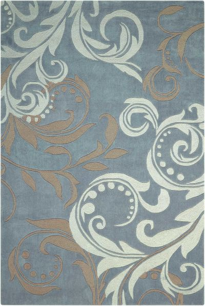 Nourison Contour Modern/Contemporary, Silver 7'3″ x 9'3″ CON09SLVR6X9