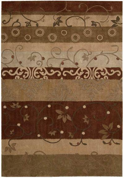 Nourison Contour Patchwork/Bohemian, Striped, Multicolor 3'6″ x 5'6″ CON10MLTCLR4X6