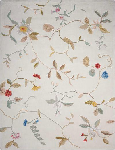 Nourison Contour Floral/Botanical, Cream 3'6″ x 5'6″ CON12CRM4X6