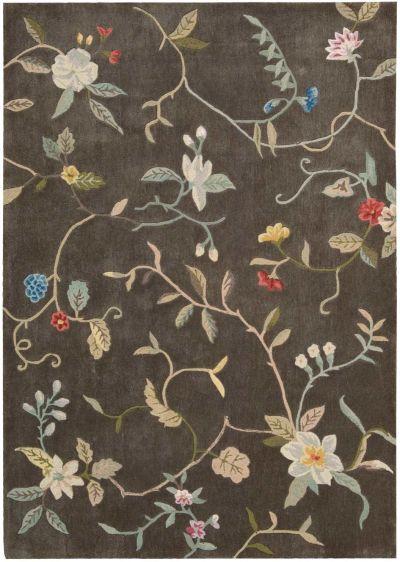 Nourison Contour Floral/Botanical, Tobacco 8'0″ x 10'6″ CON12TBCC8X10